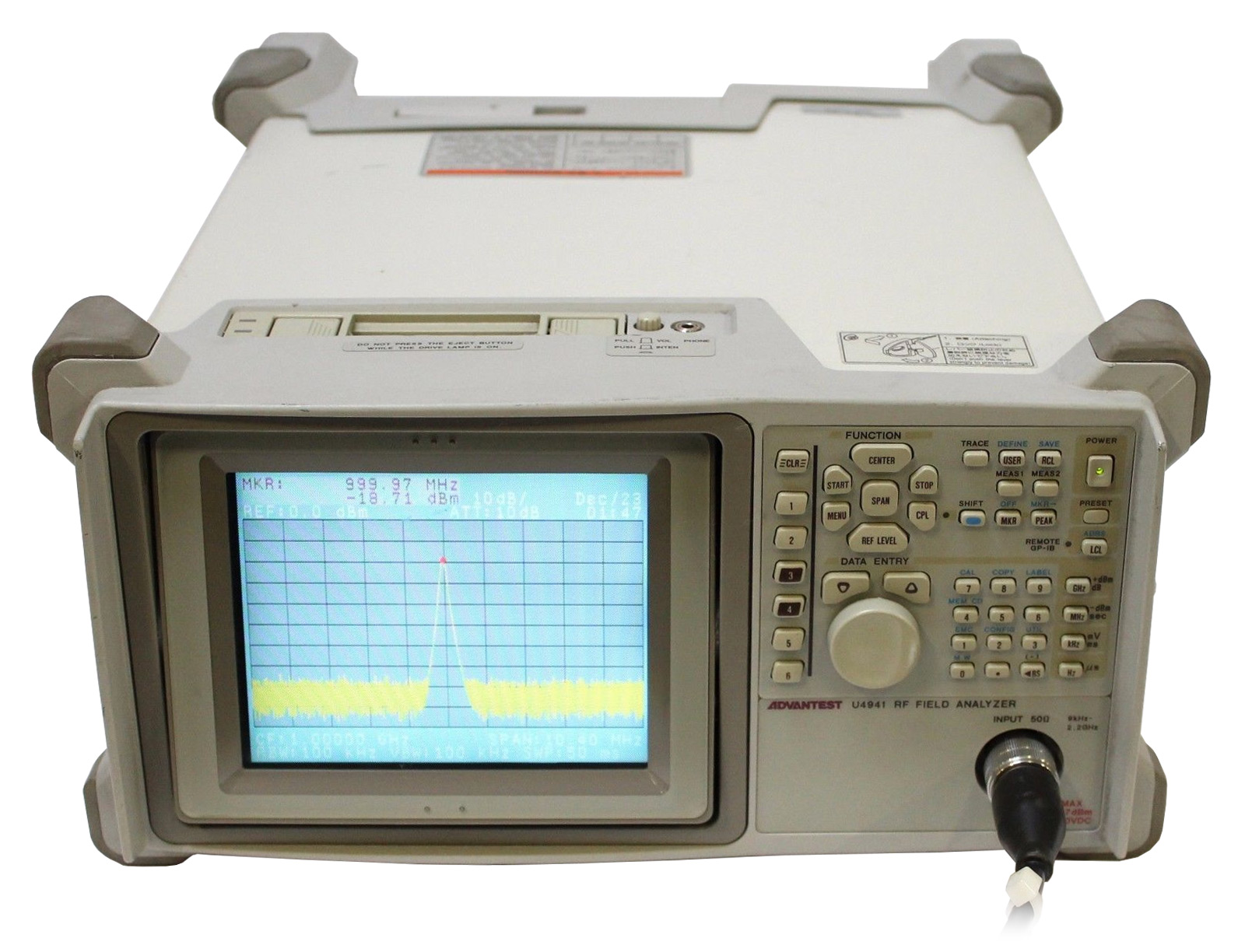 Advantest U4941N Portable Spectrum Analyzer, 9 kHz - 2.2 GHz