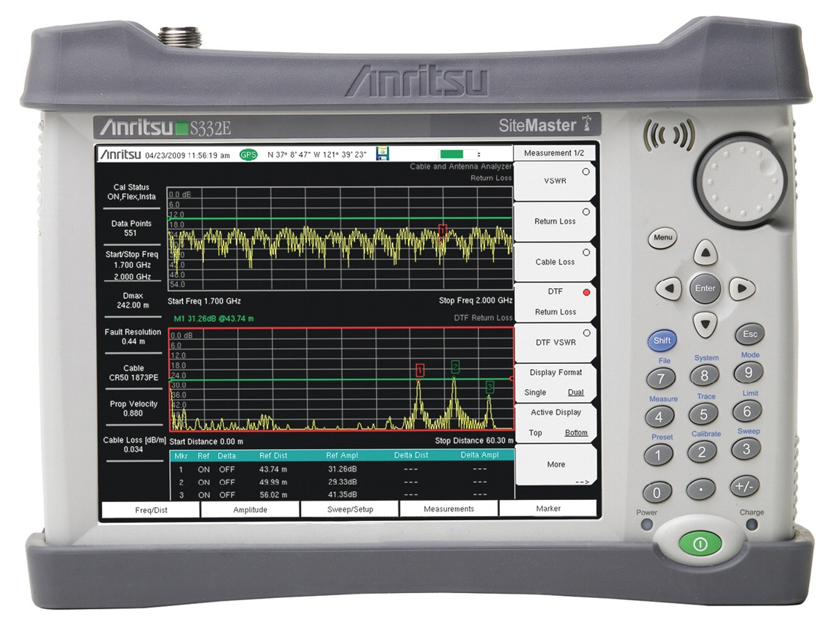 Rent Anritsu S332E Site Master Cable/ Antenna Analyzer