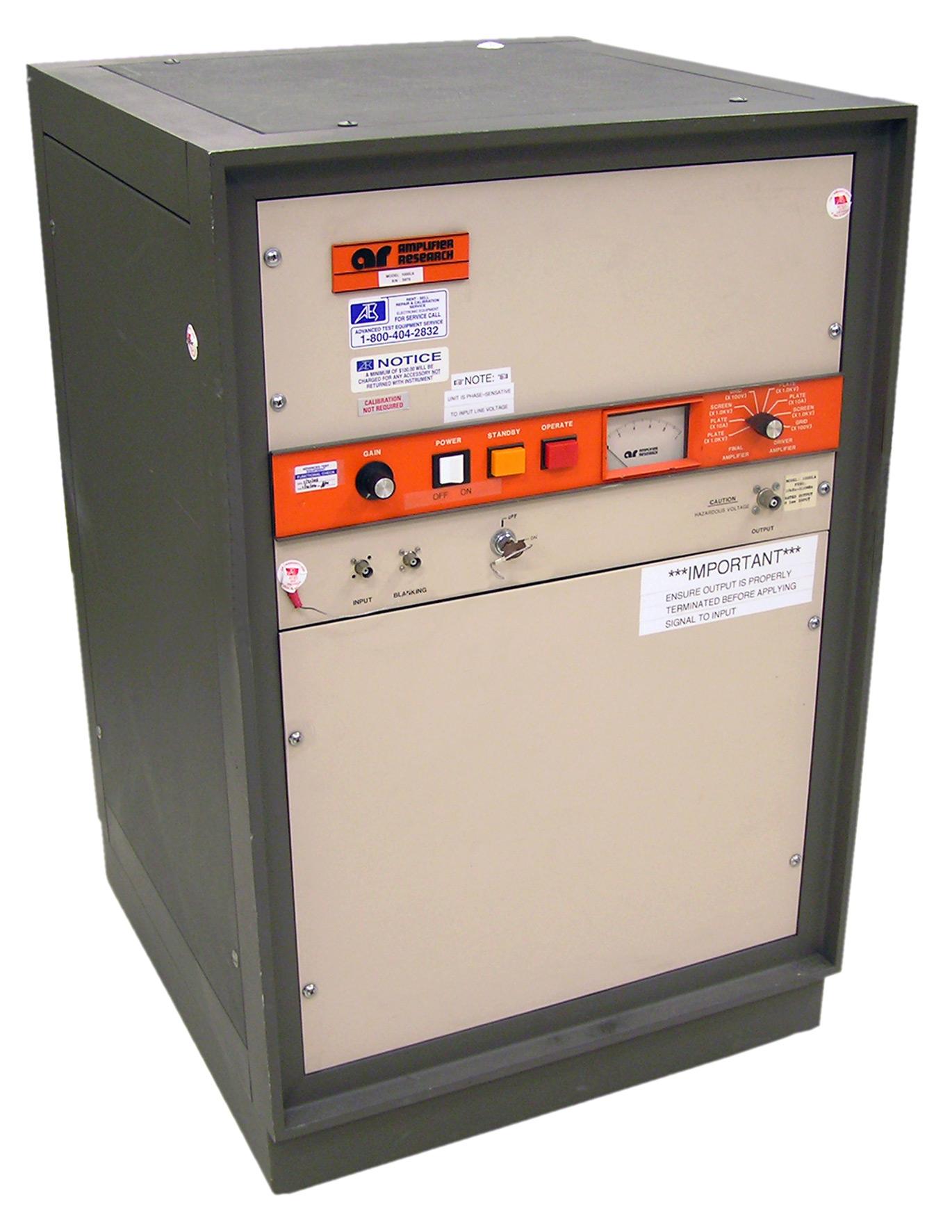 1000l Amplifier Research Test Equipment Atec Rentals Accessories Fm Gain Signal 180 Rf 10 Khz 220 Mhz