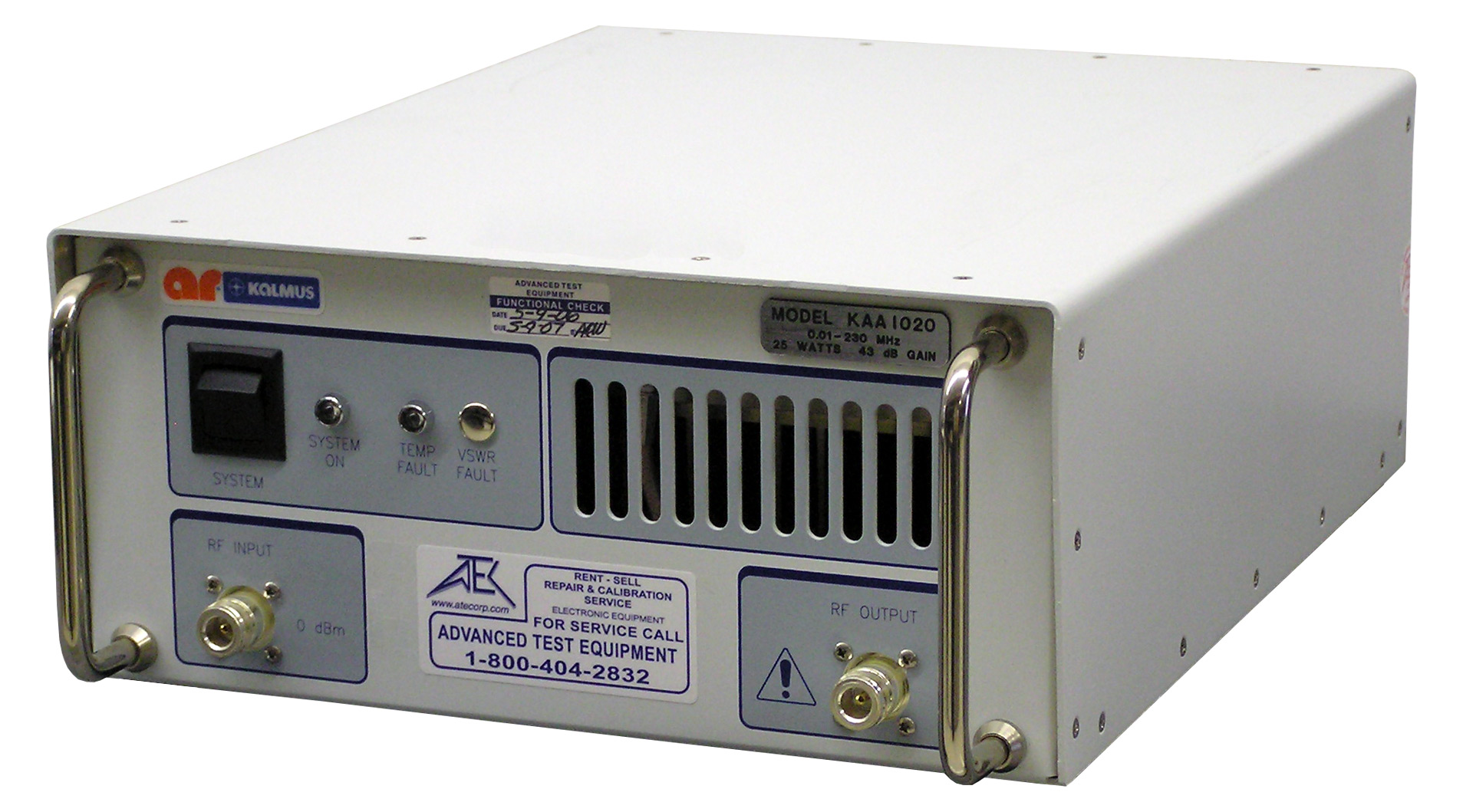 Amplifier Research KAA1020 RF Power Amplifier 0.01 MHz - 230 MHz