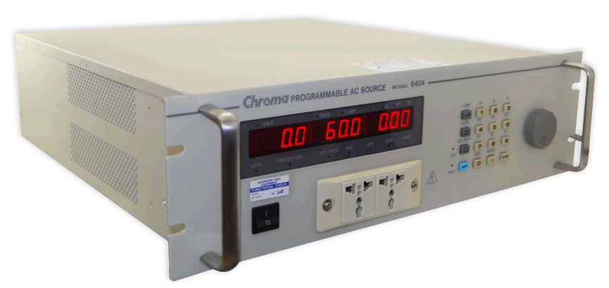 Rent Chroma 6404 300 Volts, 375VAC, 45-500Hz Single Phase AC Power Source