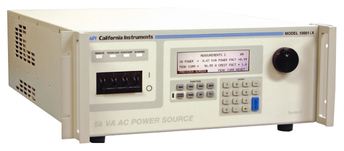 California Instruments 10001IX AC / DC Power System