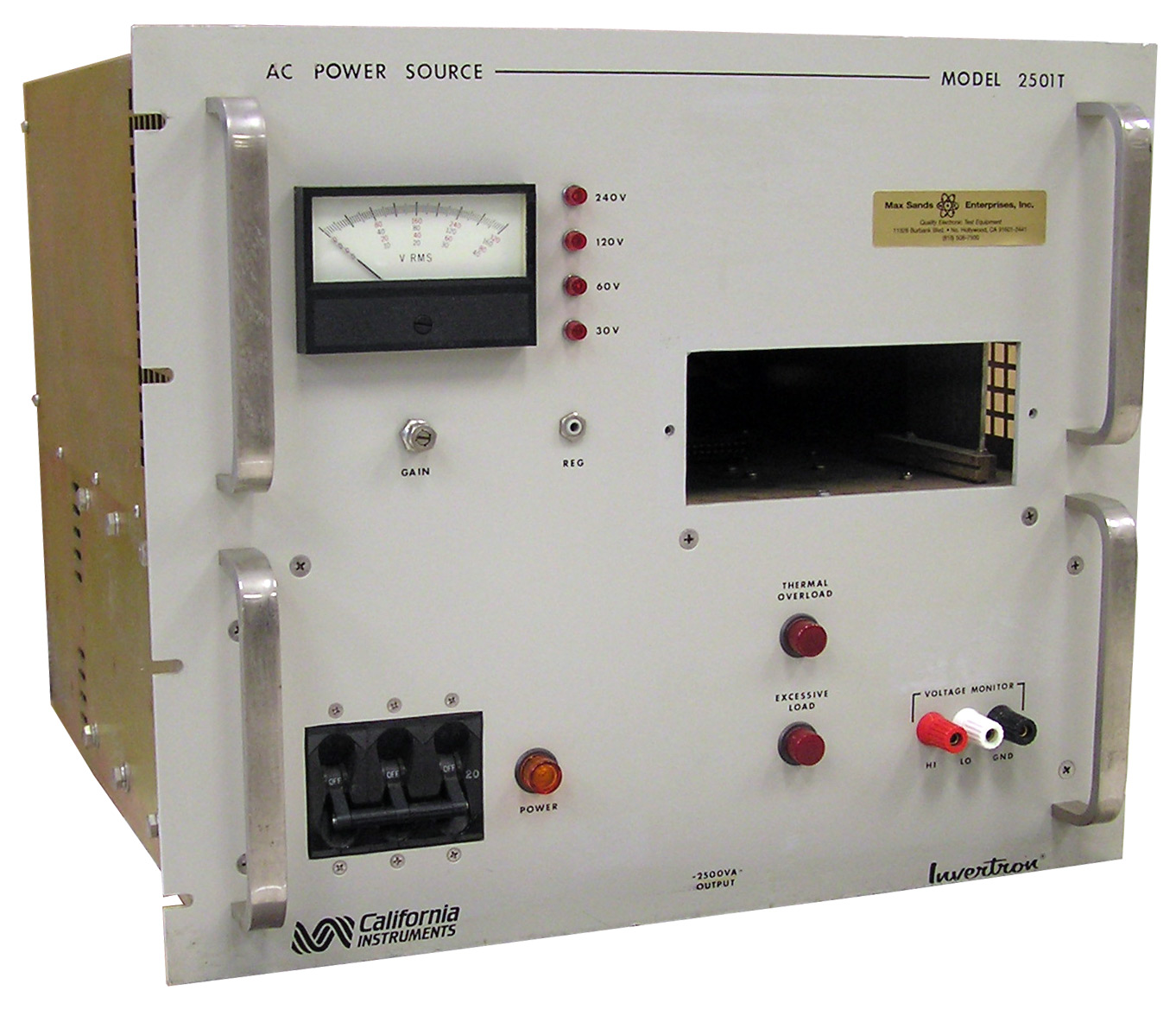 California Instruments 2501T Invertron AC Power Source, 2.5 kVA