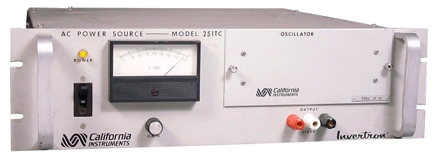 California Instruments 251TC Single - Phase AC Power Source, 250 VA
