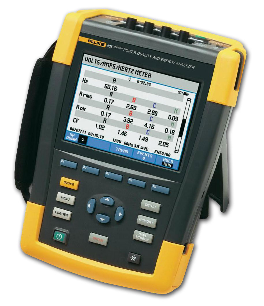 Fluke 435 Three Phase Energy & Power Quality Analyzer
