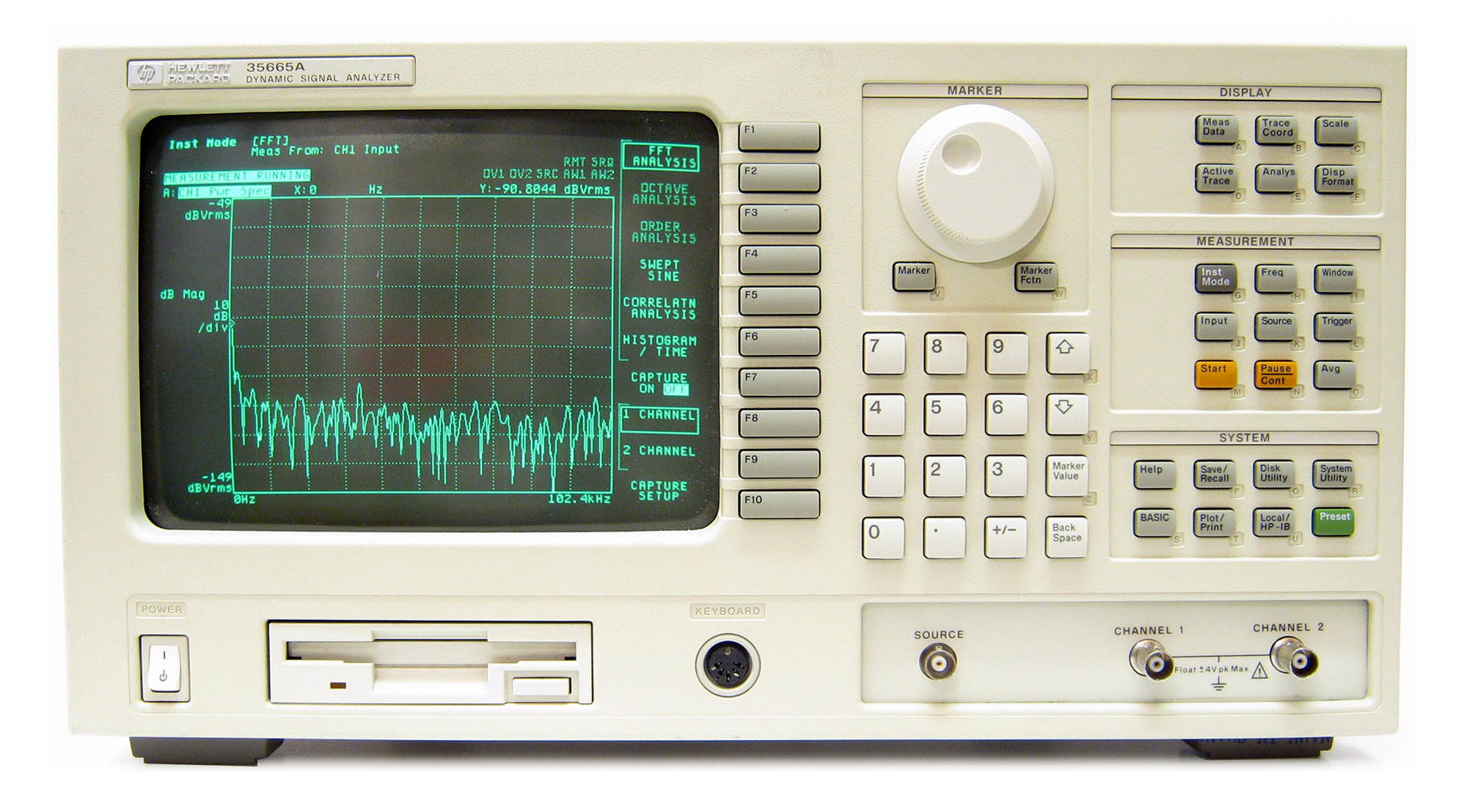 Keysight 35665A Dynamic Signal Analyzer