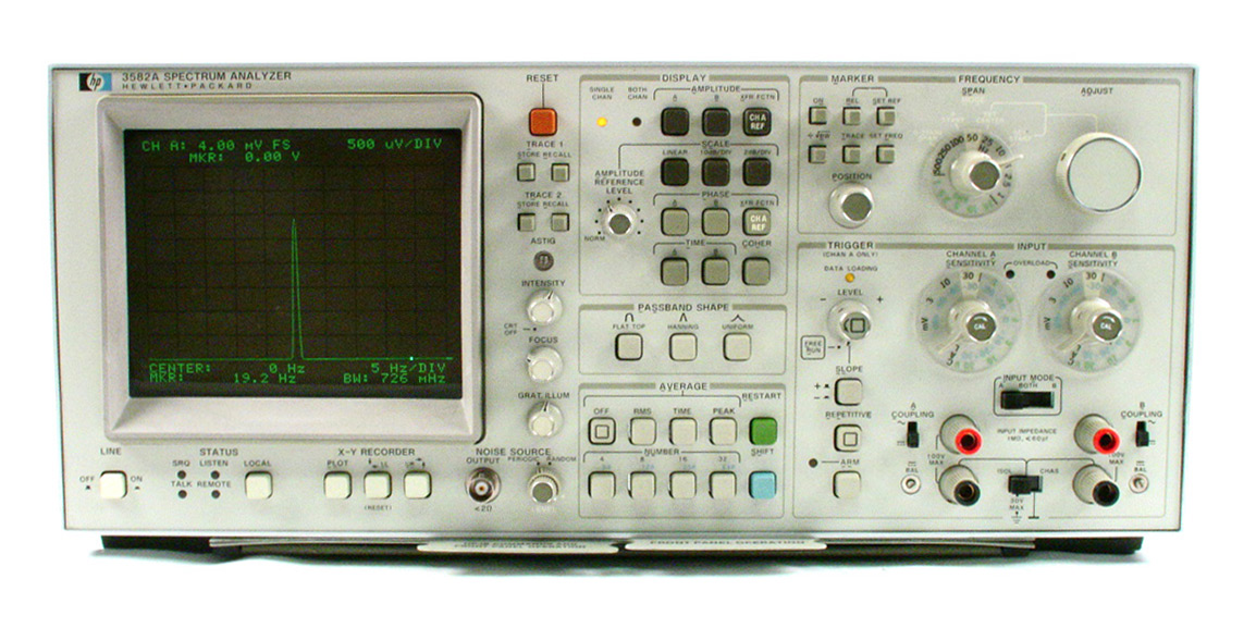 HP/Agilent 3582A Spectrum Analyzer, dual-channel