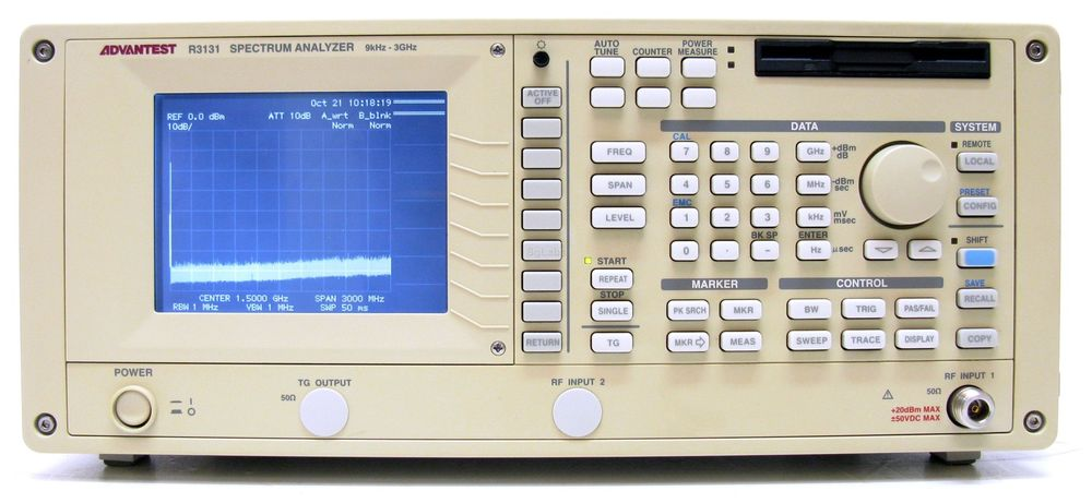 Advantest R3131 RF Spectrum Analyzer 9 kHz - 3 GHz