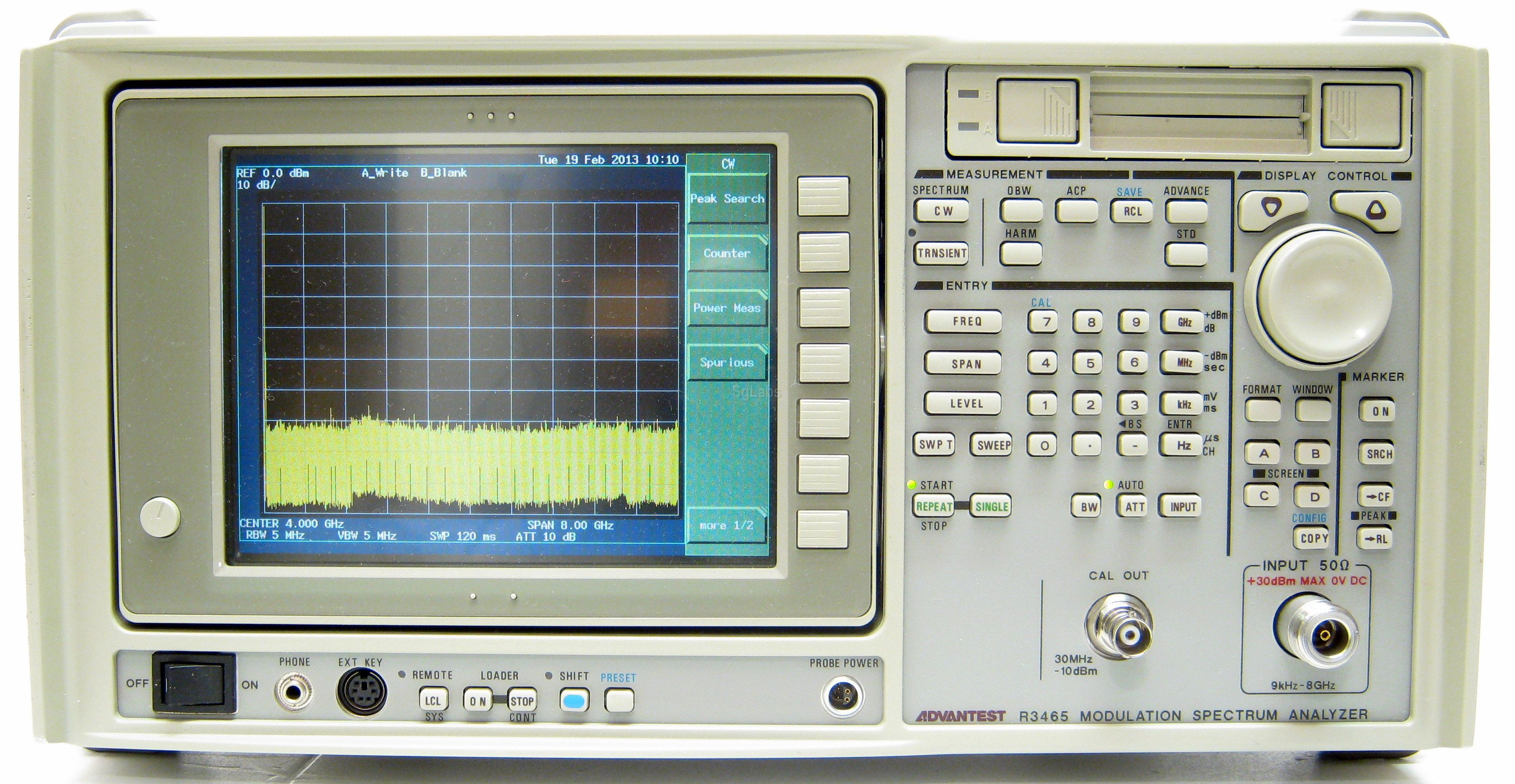 Advantest R3465 Spectrum Analyzer, 9 kHz - 8 GHz