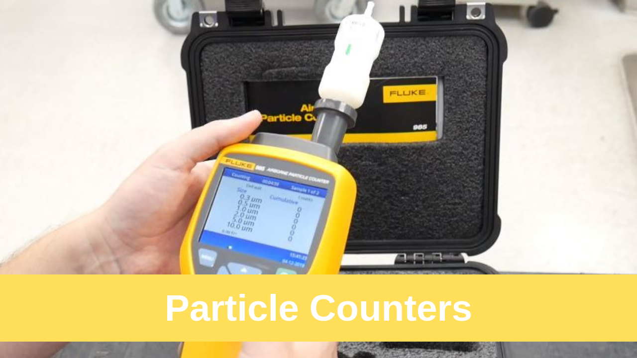 Air Particle Counting Using Fluke 985 Particle Counter