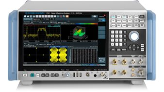 The Rohde & Schwarz FSW spectrum analyzer is ideal for 5G RF signal analysis.